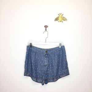 Urban Outfitters BDG chambray tencel shorts 8 0063